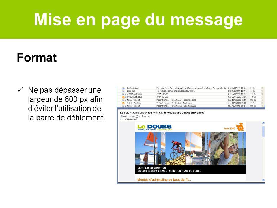 Mise en page du message Format