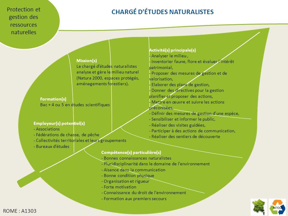 CHARGÉ D'ÉTUDES NATURALISTES