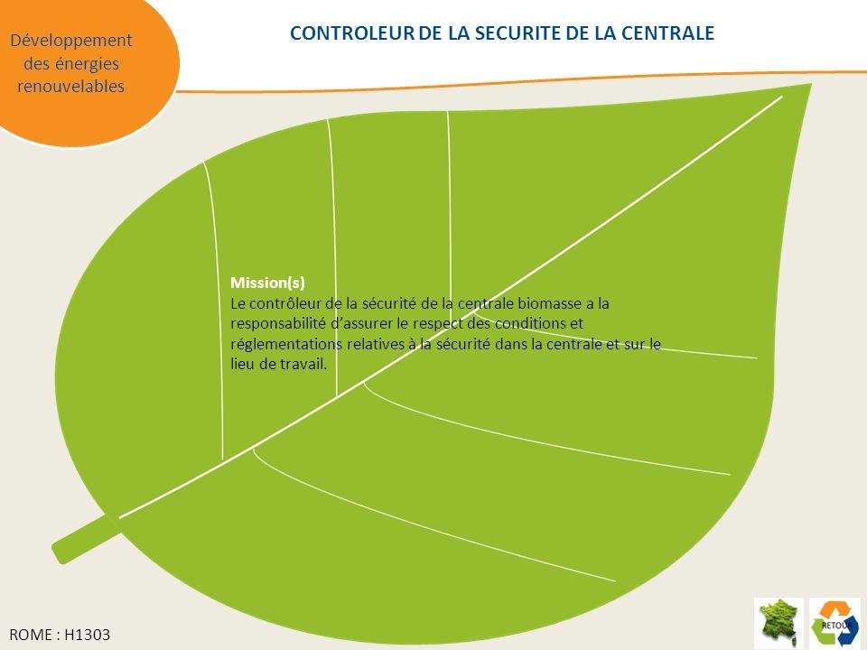 CONTROLEUR DE LA SECURITE DE LA CENTRALE