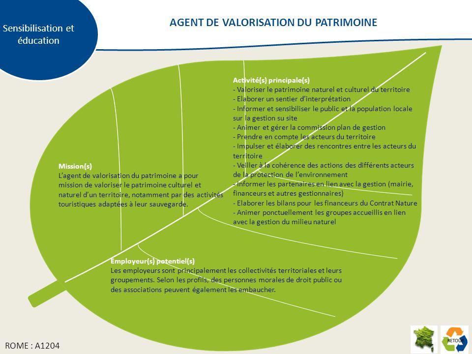 AGENT DE VALORISATION DU PATRIMOINE