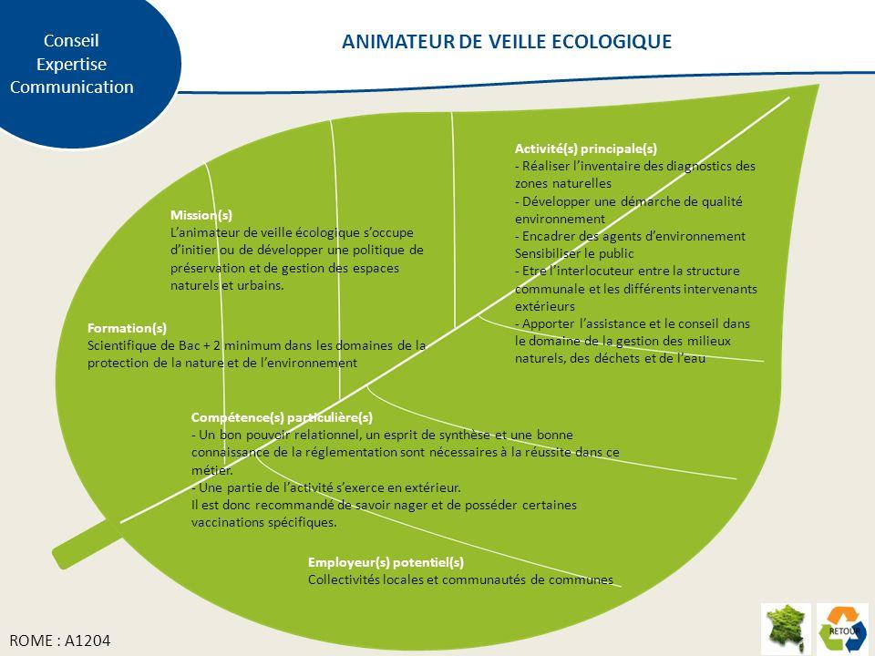 ANIMATEUR DE VEILLE ECOLOGIQUE
