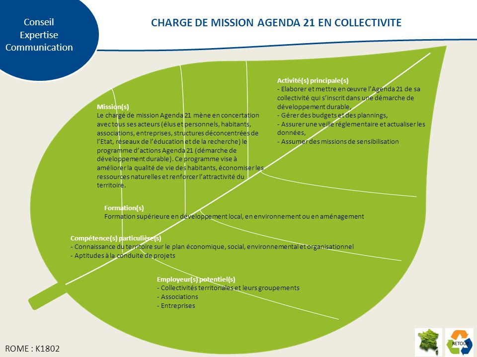 CHARGE DE MISSION AGENDA 21 EN COLLECTIVITE