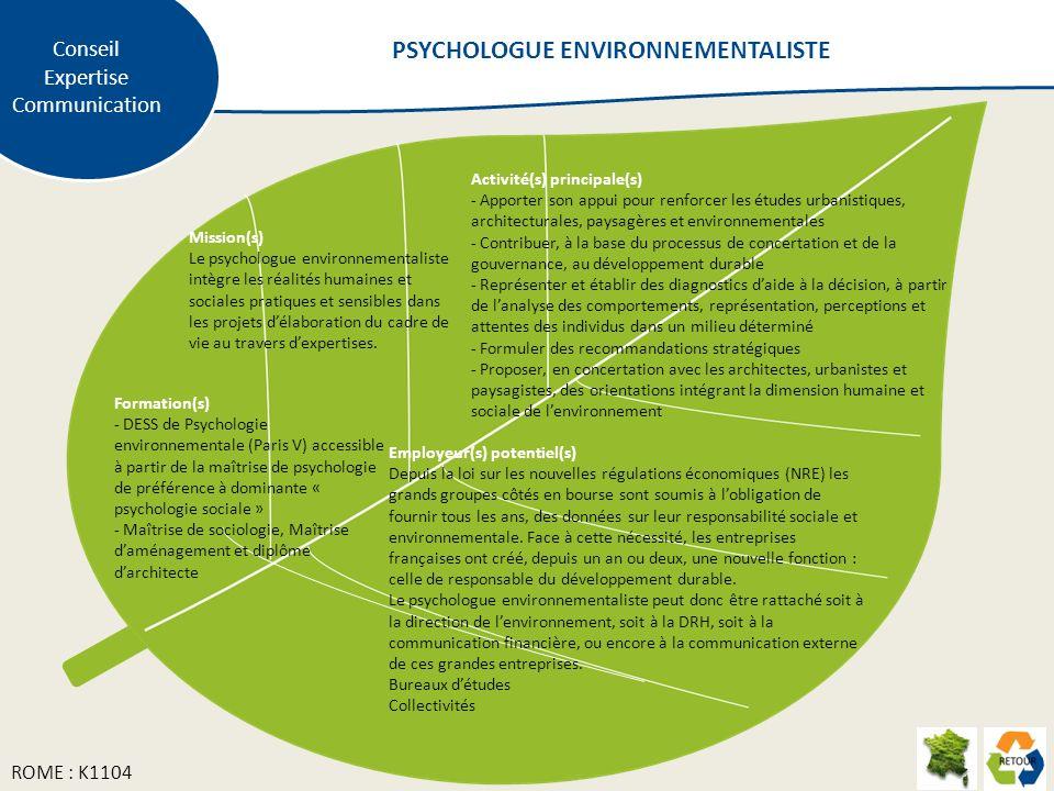 PSYCHOLOGUE ENVIRONNEMENTALISTE