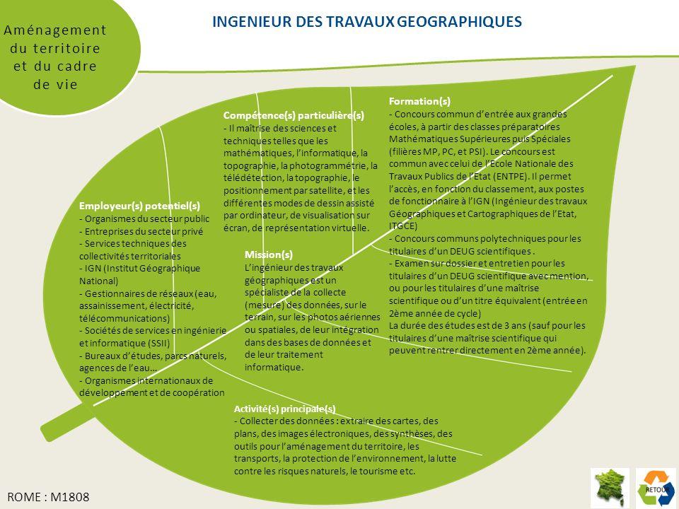INGENIEUR DES TRAVAUX GEOGRAPHIQUES