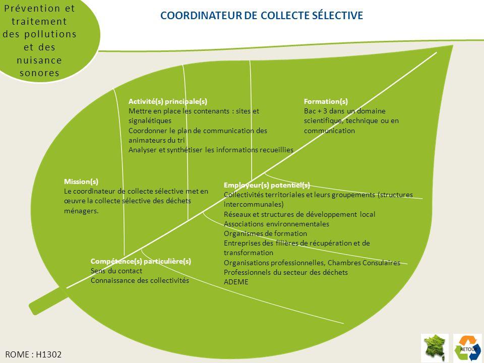 COORDINATEUR DE COLLECTE SÉLECTIVE