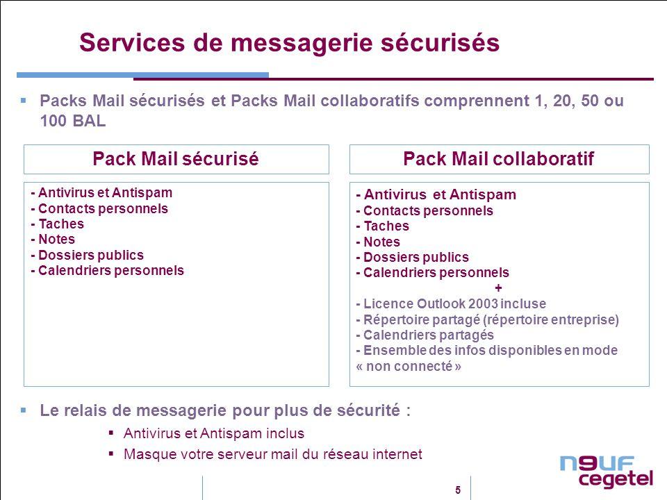 Services de messagerie sécurisés