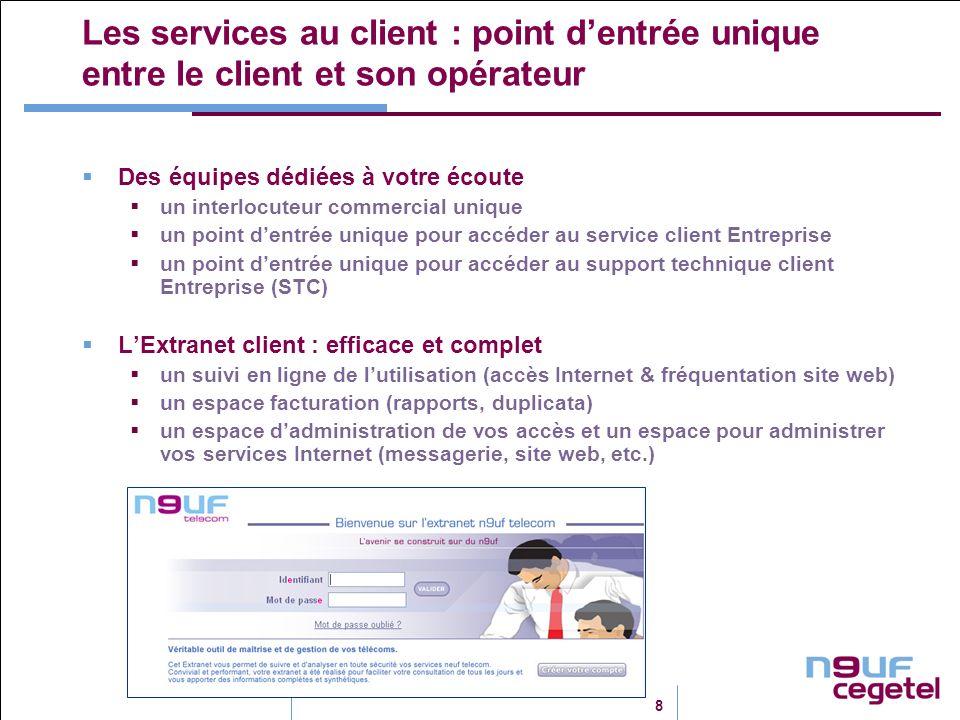 Les services au client : point d'entrée unique entre le client et son opérateur
