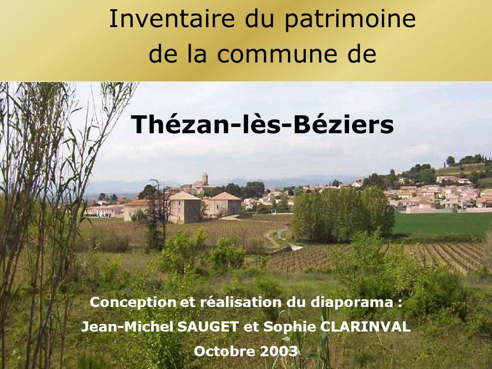 Inventaire du patrimoine de la commune de Thézan-lès-Béziers