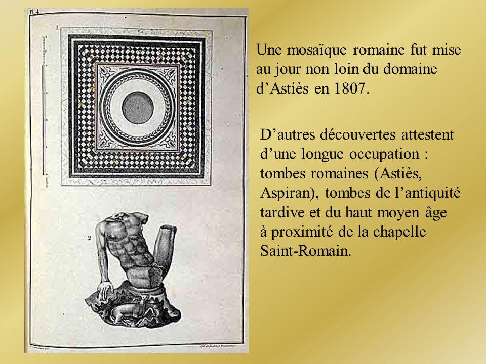Une mosaïque romaine fut mise