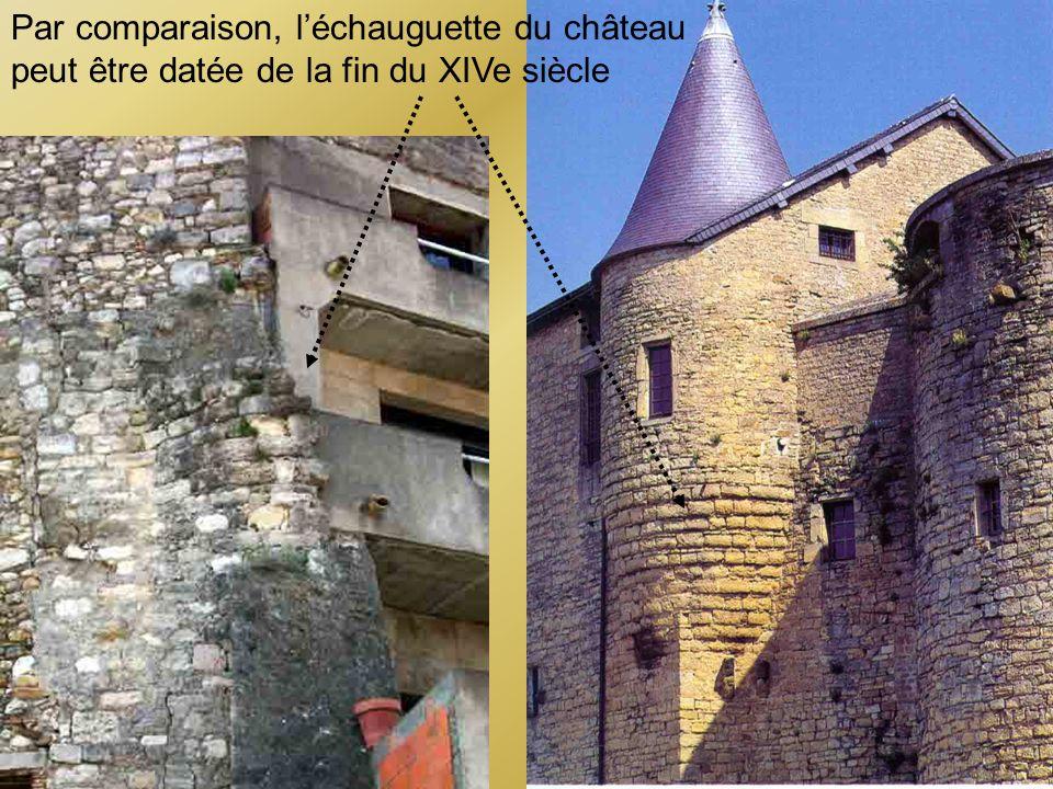 Par comparaison, l'échauguette du château