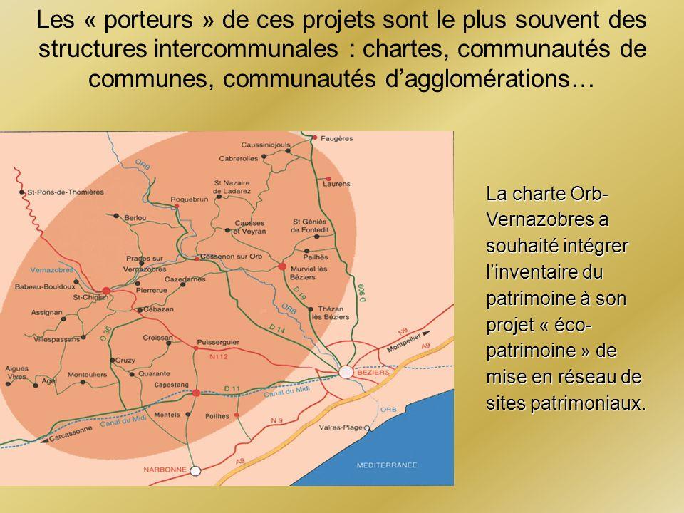 Les « porteurs » de ces projets sont le plus souvent des structures intercommunales : chartes, communautés de communes, communautés d'agglomérations…