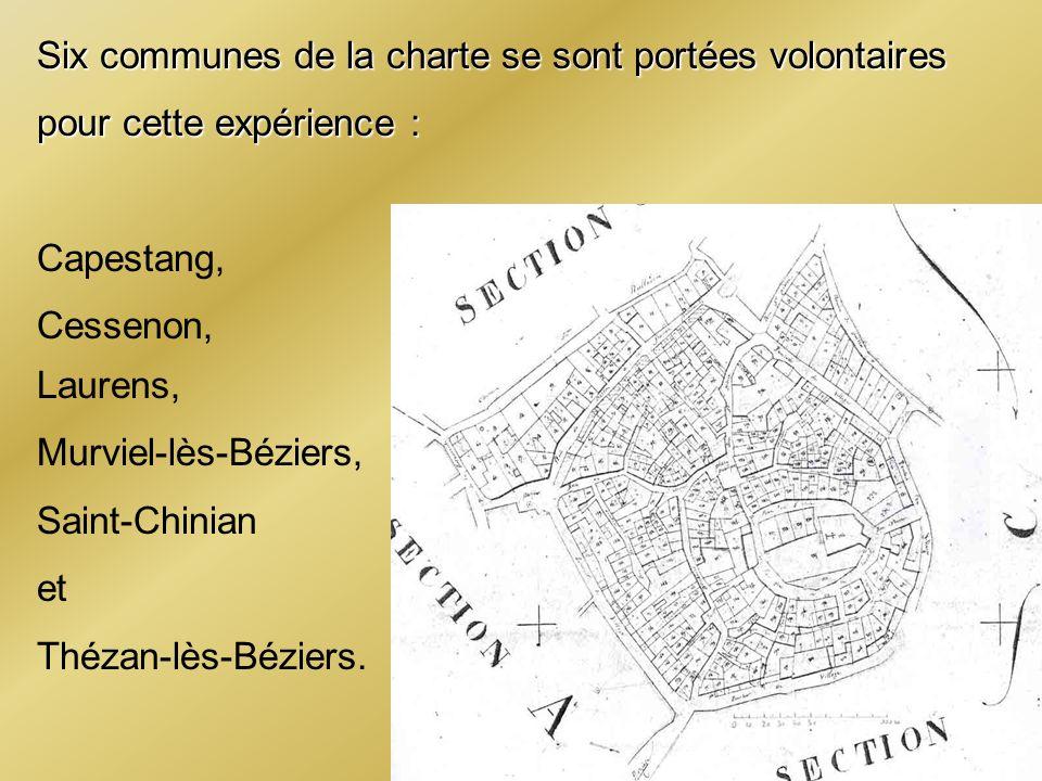 Six communes de la charte se sont portées volontaires