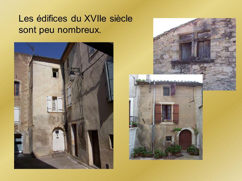 Les édifices du XVIIe siècle