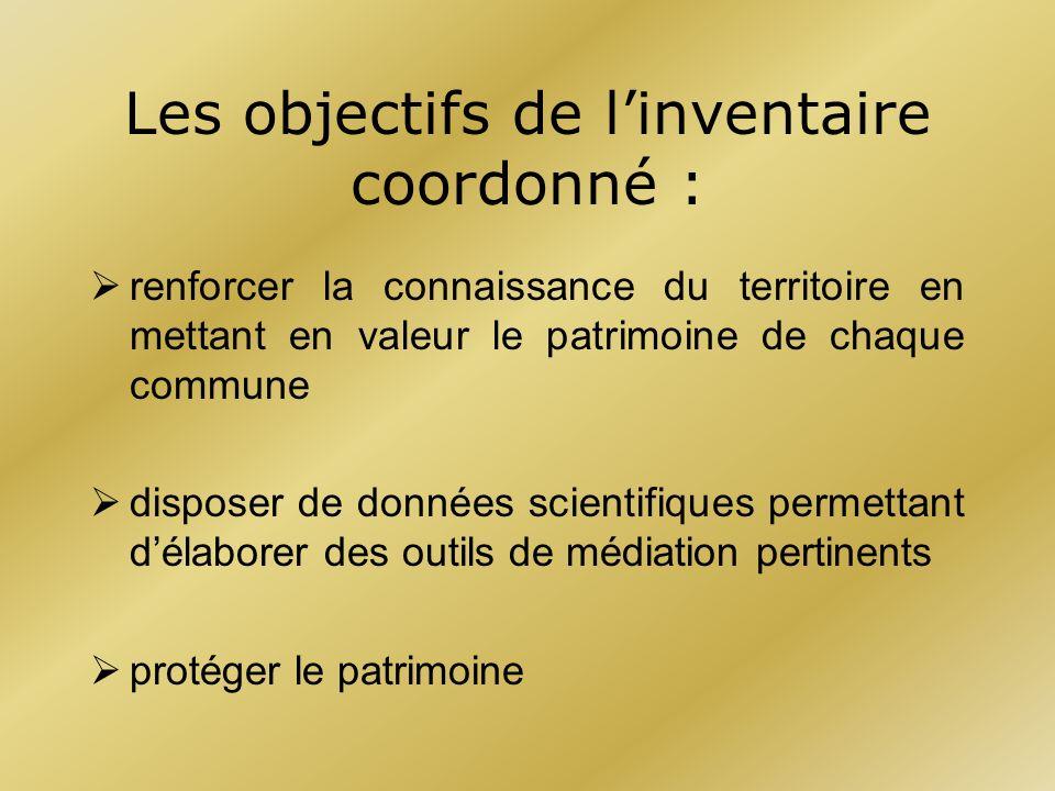 Les objectifs de l'inventaire coordonné :