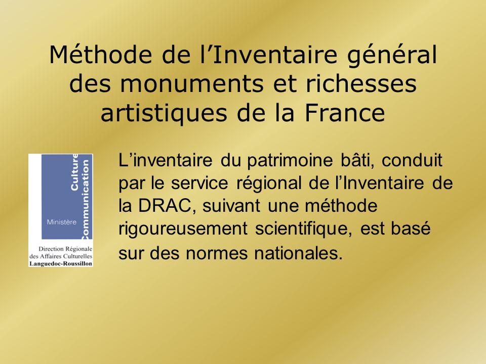 Méthode de l'Inventaire général des monuments et richesses artistiques de la France