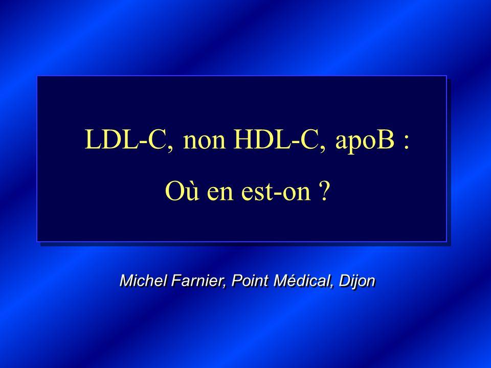 LDL-C, non HDL-C, apoB : Où en est-on