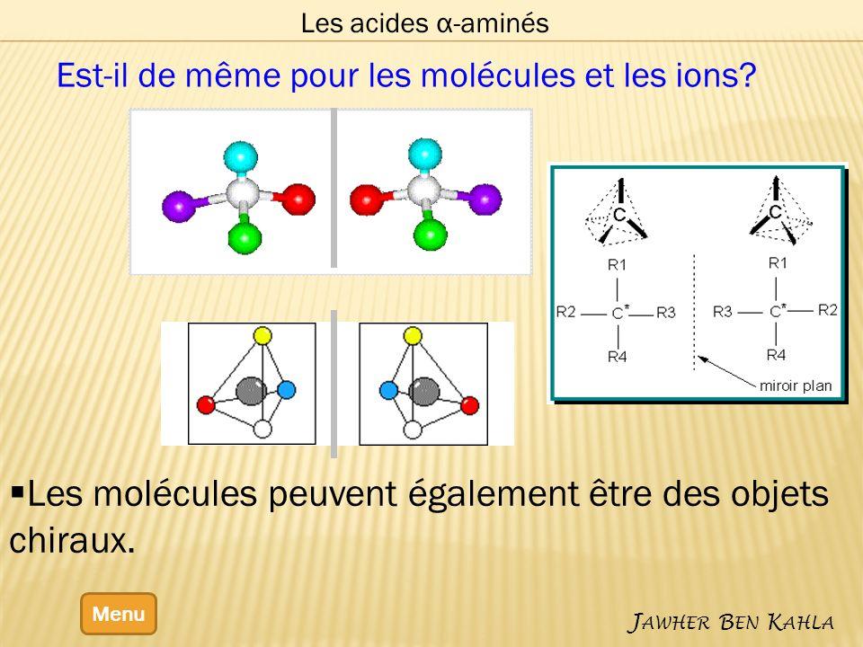 Les molécules peuvent également être des objets chiraux.