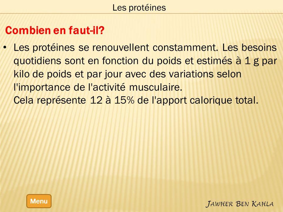 Les protéines Combien en faut-il