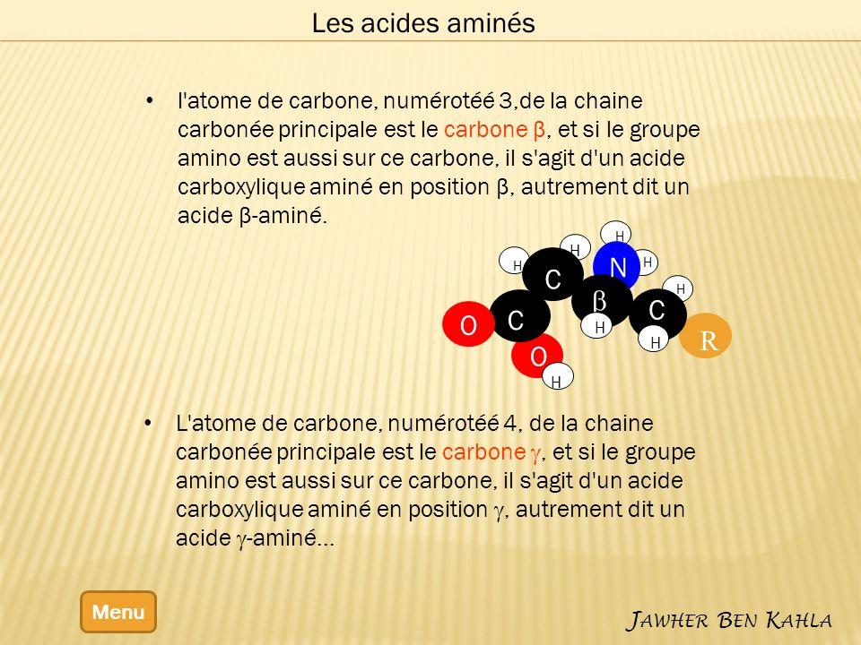 Les acides aminés N b C R O