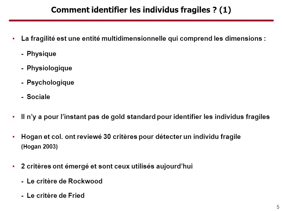 Comment identifier les individus fragiles (1)