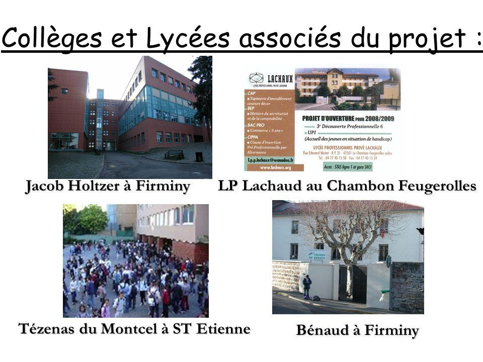 Collèges et Lycées associés du projet :