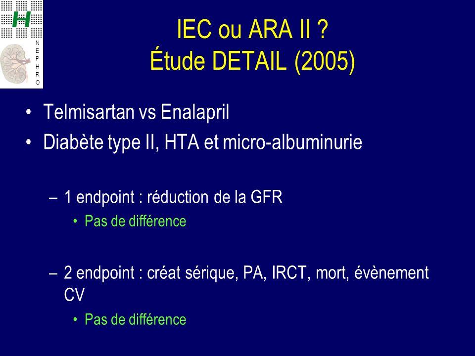 IEC ou ARA II Étude DETAIL (2005)