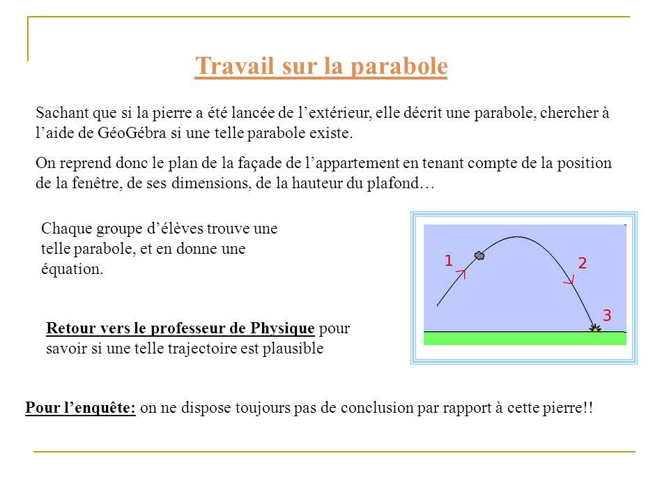 Travail sur la parabole
