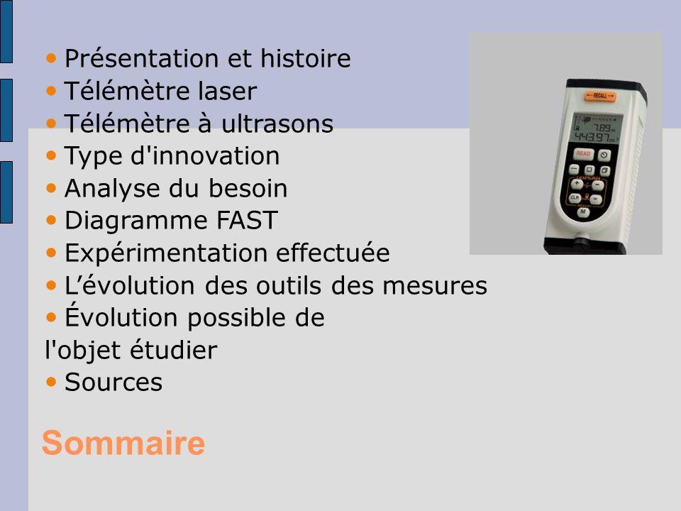 Sommaire Présentation et histoire Télémètre laser