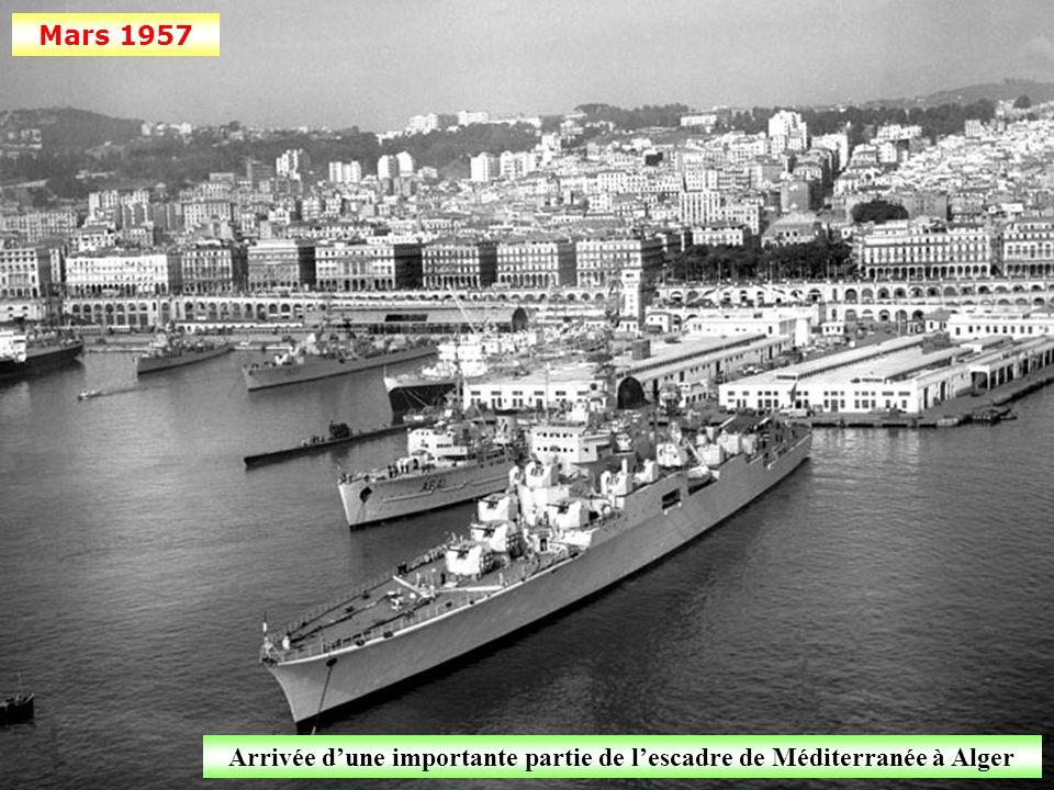 Arrivée d'une importante partie de l'escadre de Méditerranée à Alger