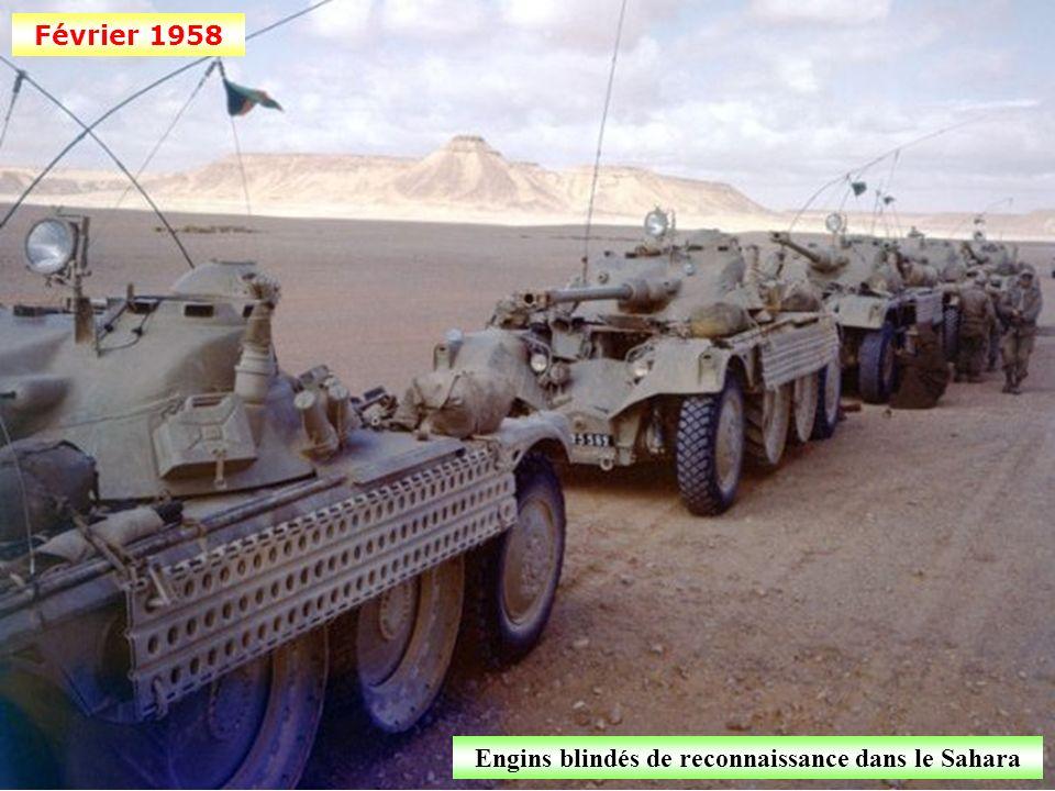 Engins blindés de reconnaissance dans le Sahara