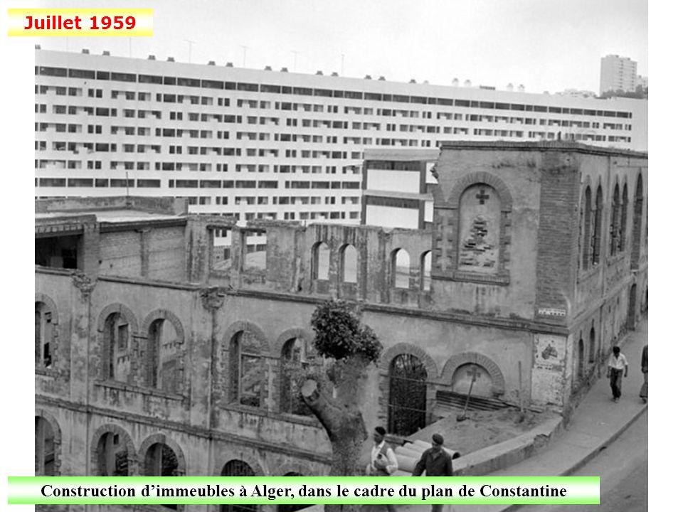 Construction d'immeubles à Alger, dans le cadre du plan de Constantine