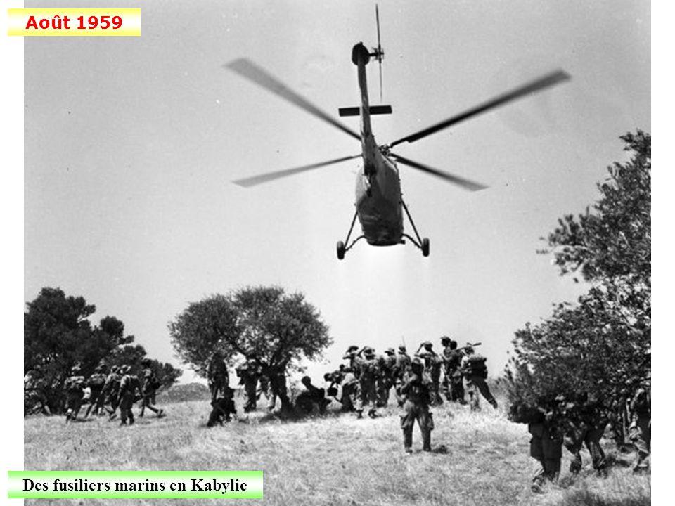 Des fusiliers marins en Kabylie