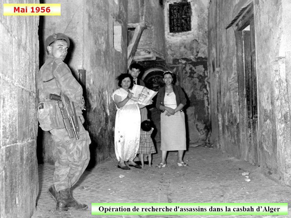 Opération de recherche d assassins dans la casbah d'Alger