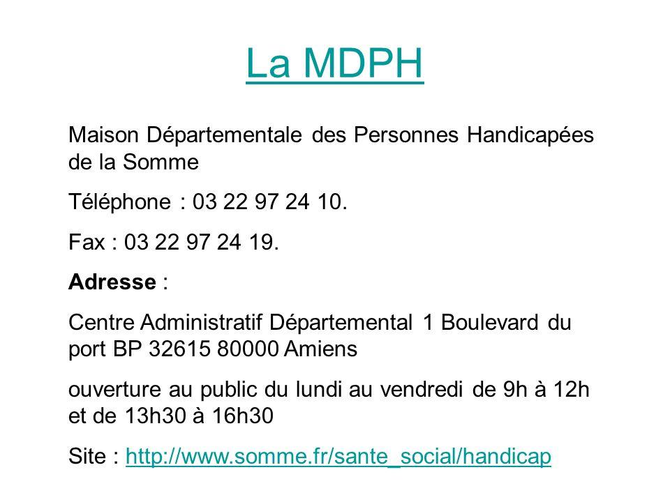 La MDPH Maison Départementale des Personnes Handicapées de la Somme