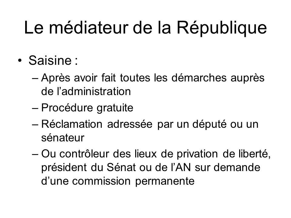 Le médiateur de la République