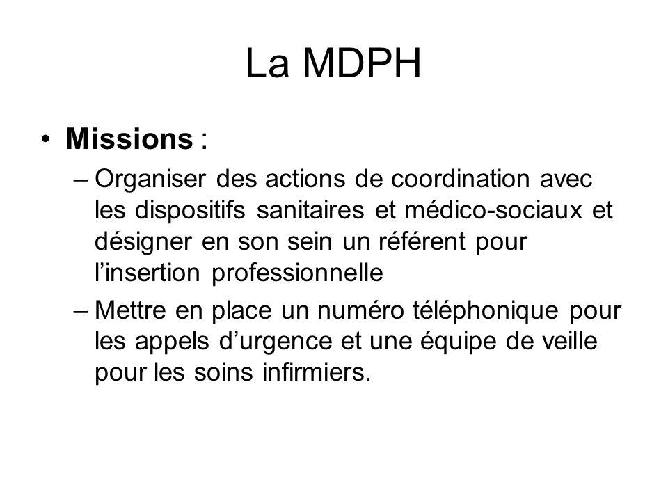 La MDPH Missions :