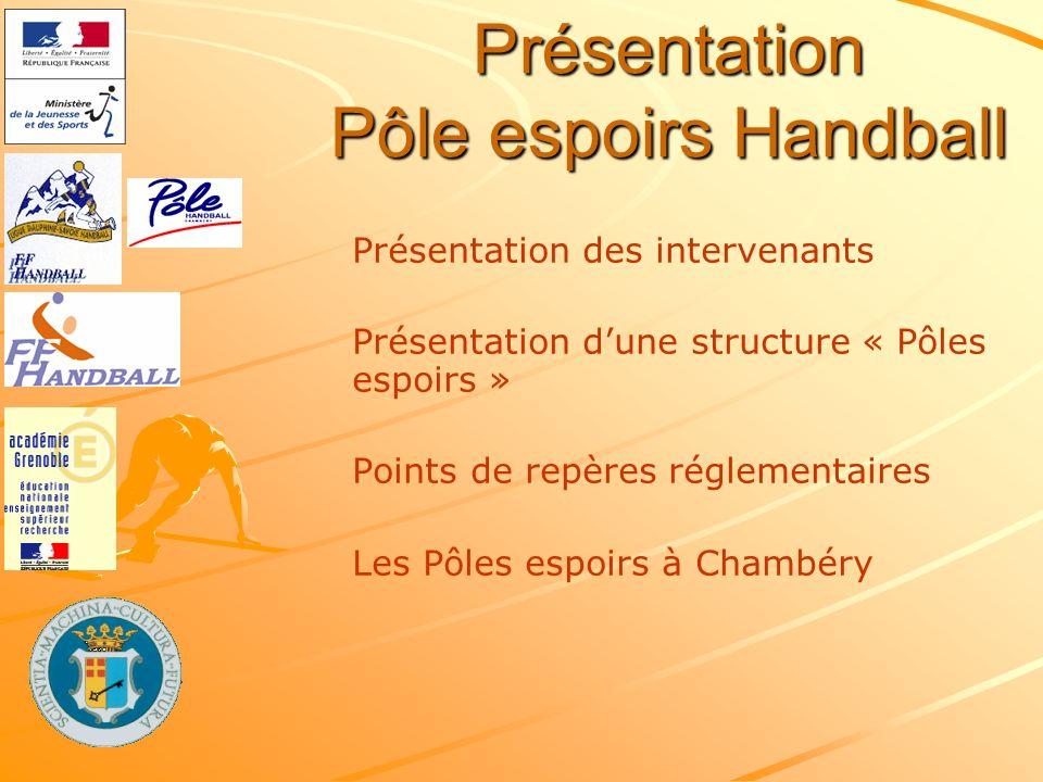 Présentation Pôle espoirs Handball