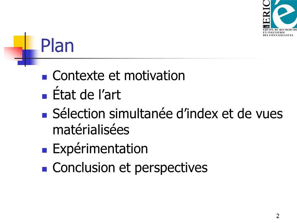 Plan Contexte et motivation État de l'art