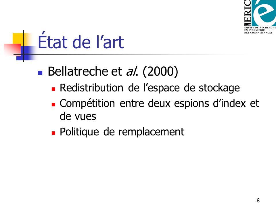 État de l'art Bellatreche et al. (2000)