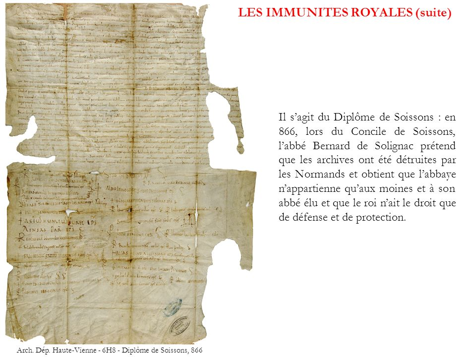 LES IMMUNITES ROYALES (suite)