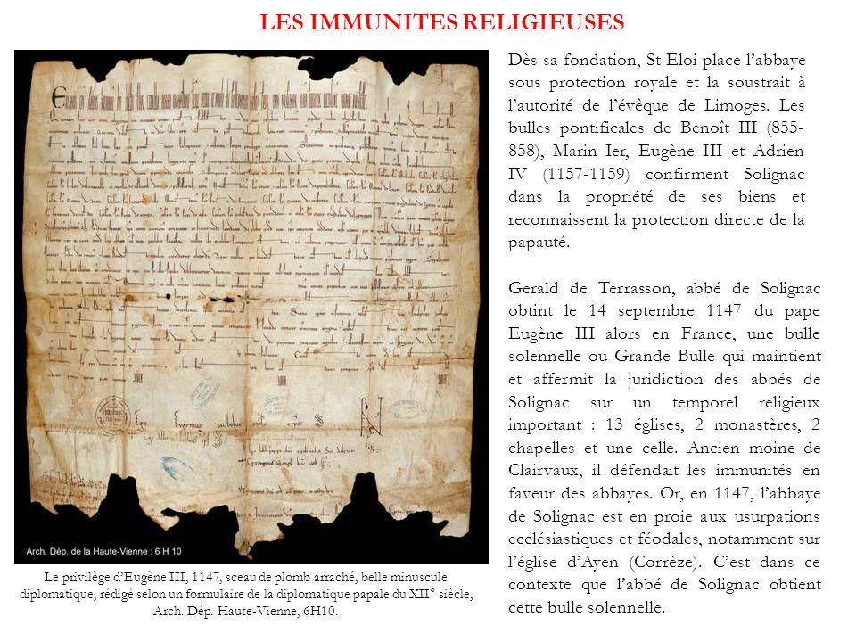 LES IMMUNITES RELIGIEUSES