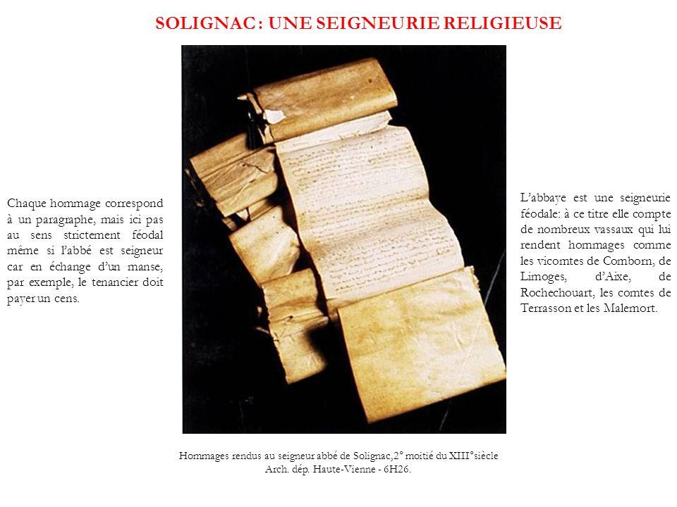 SOLIGNAC : UNE SEIGNEURIE RELIGIEUSE