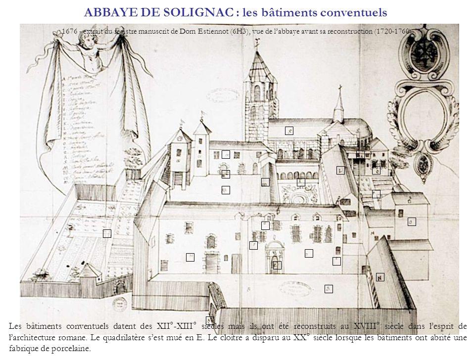 ABBAYE DE SOLIGNAC : les bâtiments conventuels