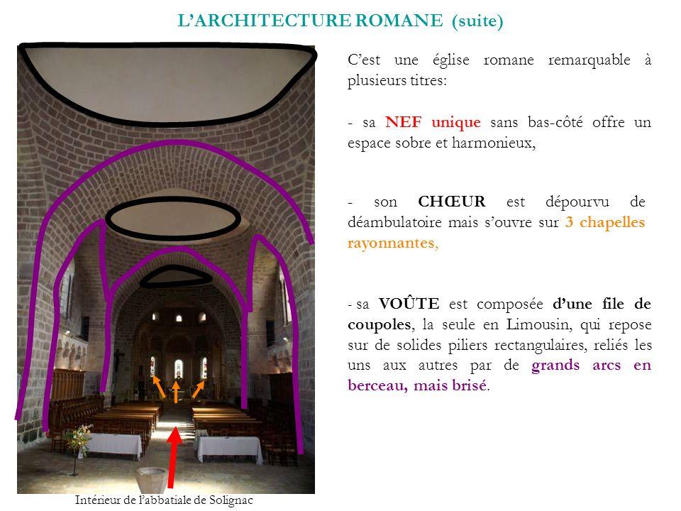 L'ARCHITECTURE ROMANE (suite)