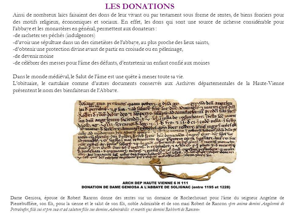 LES DONATIONS