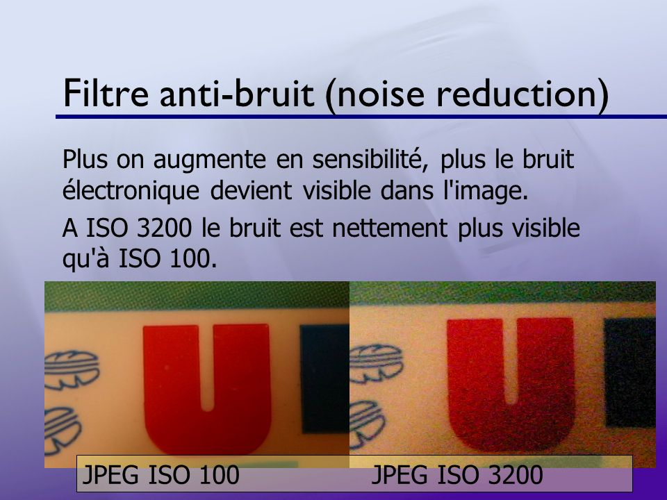 Filtre anti-bruit (noise reduction)