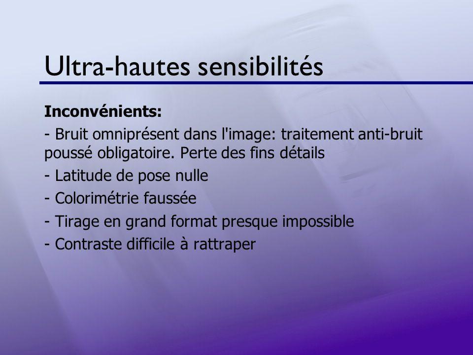Ultra-hautes sensibilités