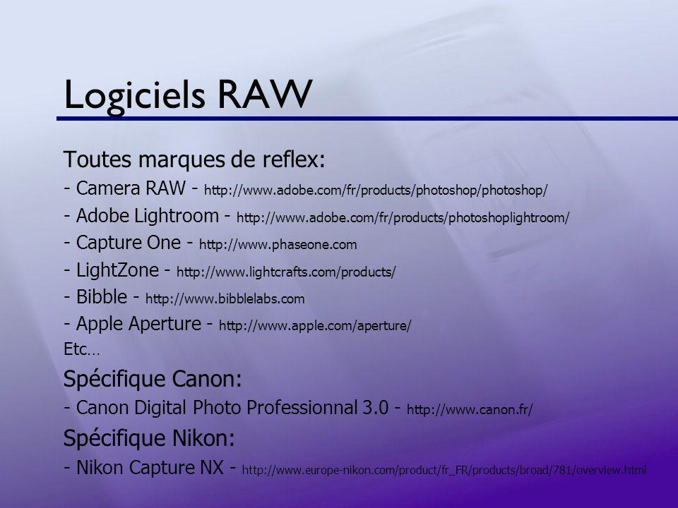 Logiciels RAW Toutes marques de reflex: Spécifique Canon: