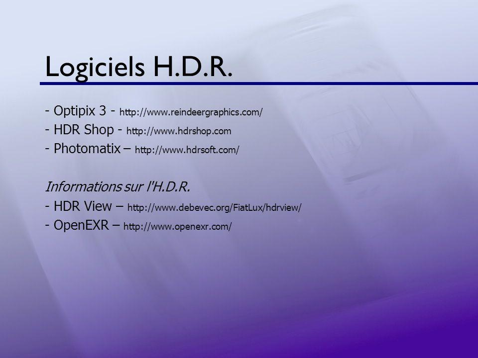 Logiciels H.D.R. - Optipix 3 - http://www.reindeergraphics.com/