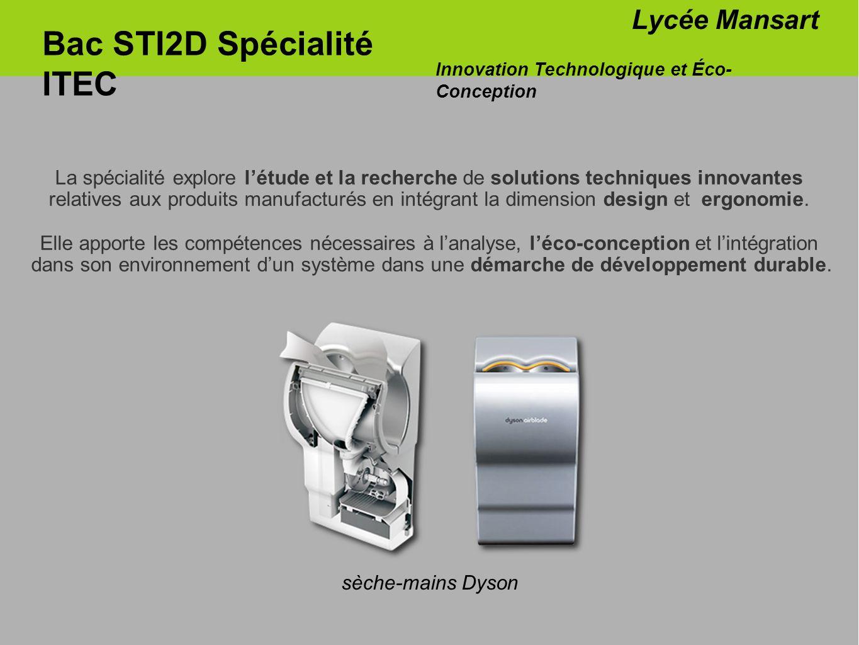 Bac STI2D Spécialité ITEC